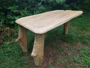 Solid live edge wood table