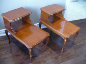 Large vintage french provincial/telephone side tables