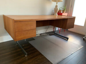 Mid-century Modern Canadian-made solid wood desk