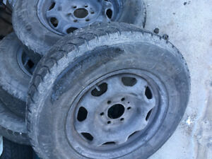 Winter rims and tires off Ford F150