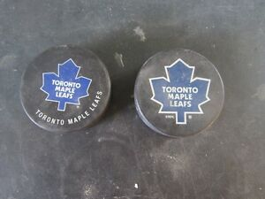 TORONTO MAPLE LEAFS HOCKEY PUCKS Peterborough Peterborough Area image 1