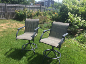 Patio bar chairs