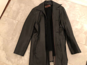 Daniel Men's Black Leather 3/4 Jacket Medium
