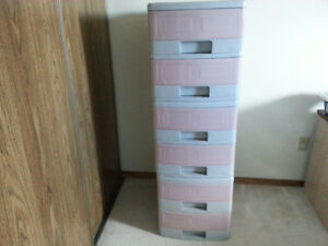 6 drawer plastic storage