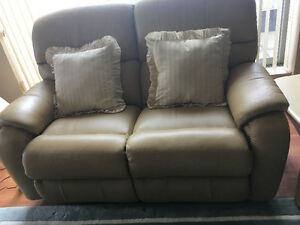 Genuine Leather Love Seat and 2 Lazy Boy Chairs