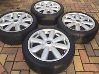 "Genuine 17"" BMW Mini Cooper S Clubman ""Crown"" Refurbished Alloy wheels & 205/45/17 Tyres"