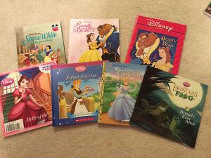7 Disney Princess storybooks