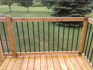Beautiful Pressure Treated Wood & Metal Railing Set