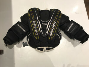 Goalie chest protector skates and pants