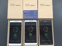 SAMSUNG GALAXY NOTE 3 UNLOCKED BRAND NEW BOXED ACCESSORIES WARRANTY & SHOP RECEIPT