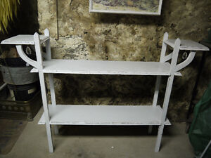 vintage stand shelf white gems sturdy unique