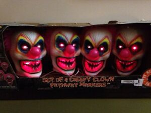 Creepy Clown Yard Markers