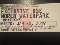 Waterpark tickets for sale
