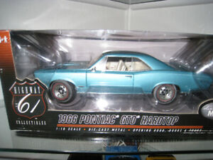 1 18 Diecast Highway 61 1966 GTO Reef Turquoise Blue Toy Car