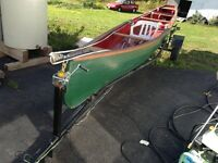 26 ft canoe with trailer for sale