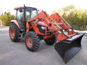 Kubota M6040 One owner 4X4 loader with cab low hrs