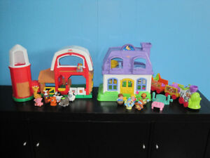 Fisher Price - Little people - ferme, maison et train