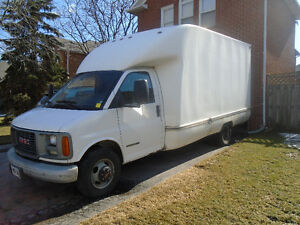 2002 GMC 3500 Cube Van: 14 ft Box