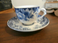 Allertons Kenilworth Flow Blue Cup and Saucer at KeepSakes