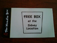 Free Box from Noodle Box in Sidney