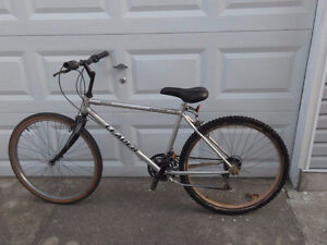Used leader mountain bike with 26 inch tires and 18 inch frame.