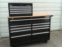 """52""""  top and bottom HUSKY Roller tool box chest combo ........"""