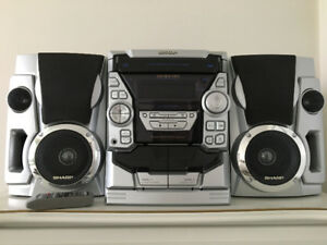 3-Disc Sharp Stereo System for Sale
