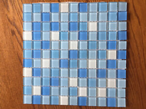 "Glass Tile 1""x1"""