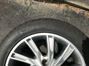 215 55 17 tires on 17'' alloy rims