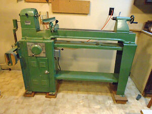 General Mfg Wood Lathe, turning tools and accessories