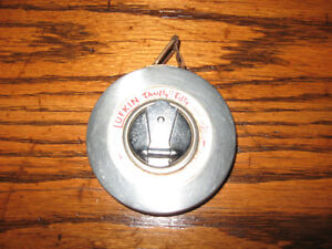 VINTAGE STAINLESS LUFKIN 50 FT TAPE MEASURE BARRIE ONTARIO