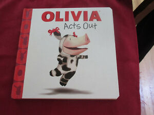 Olivia (Pig) Acts   Out Boardbook  Fun illustrations