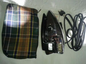 vintage  portable  travel iron