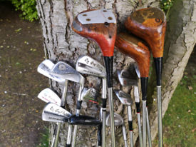 Selection of Vintage Golf Clubs