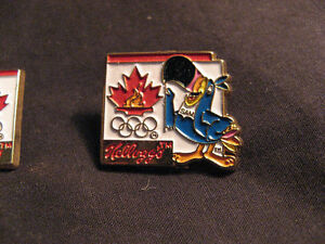 (2) 1988 Kellogg Olympic Pin / Badge COLLECTIBLES - very rare Belleville Belleville Area image 2