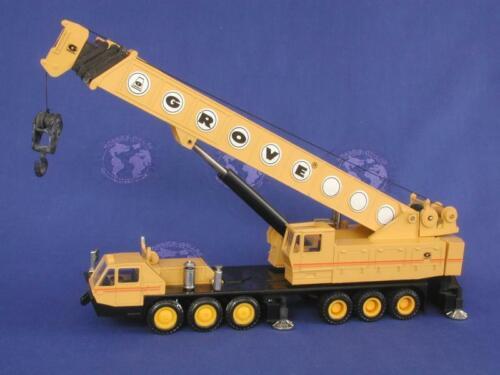 NZG 152 Grove TM1500 Mobile Crane - Yellow 1/55 Die-cast MIB