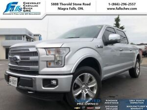 2016 Ford F-150 Platinum  NAV,4X4,REAR SLIDER,MASSAGE FRONT SEAT