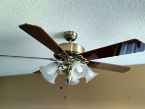 Ceiling Fan with 5 Lights (bulbs included)