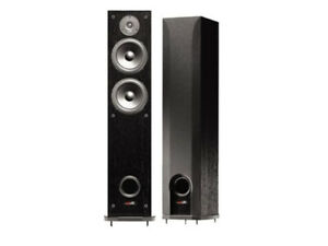 Polk Audio R50 150-Watt Tower Speaker - Black - Pair