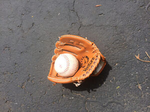 Youth glove and ball