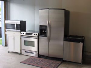 4 Piece Stainless Steel Appliances Set