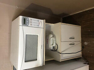 Microwave with stand and toaster