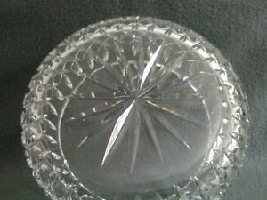 Collectible Antique Crystal Heavy Cut Bowl London Ontario image 2