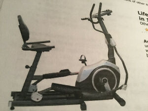 Life gear Upright, Elliptical, Recumbent bicycle, 3 in 1.