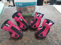 Dog Boots - Size Medium (Pink Heavy Duty Soles)