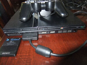 ps2 slim system with controller and memory card, works great