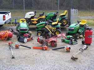 Broken or unwanted gas lawn equipment