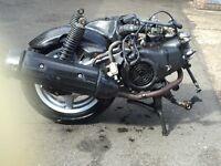 Yamaha Cygnus engine complete with wheel exhaust , shocks (fuel injected )