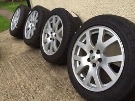 19 land rover wheels with great tyres 5x120 Bmw Vw Audi