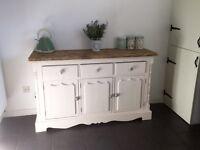 Handpainted solid pine dresser /sideboard